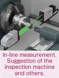 In-line measurement.  Suggestion of the inspection machine and others.