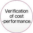 Verification of cost performance.